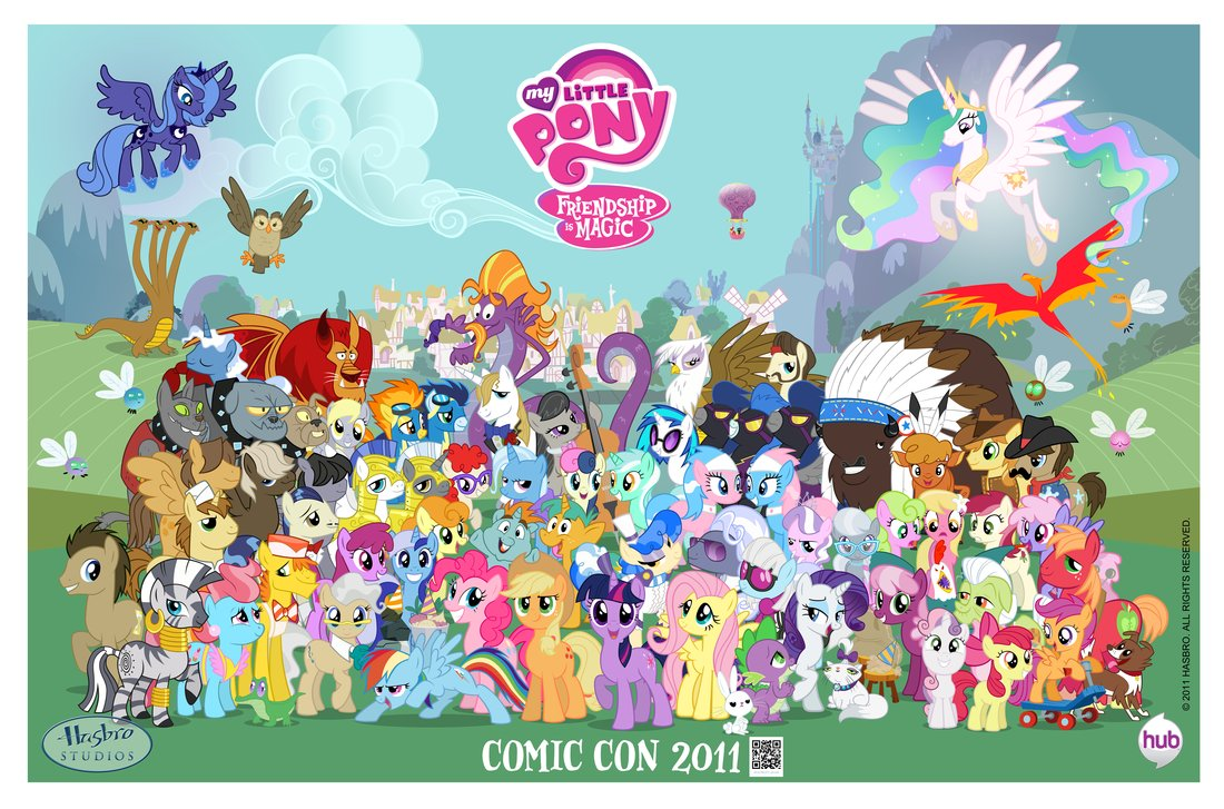 MLP poster from Comic Con 2011