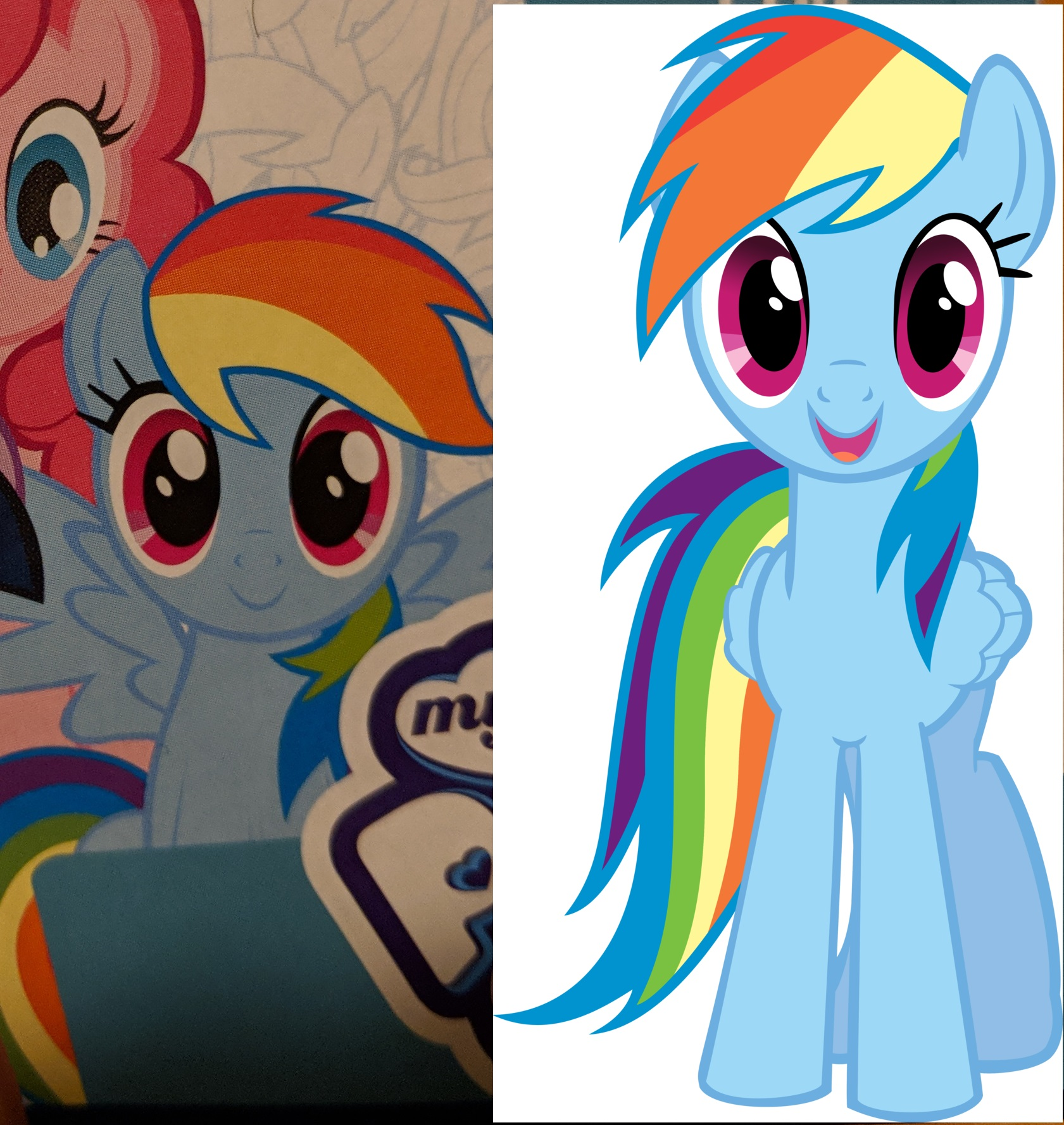 Rainbow Dash comparison