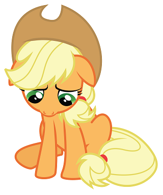 Sad Applejack
