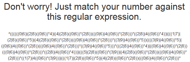 Screenshot of a big regex